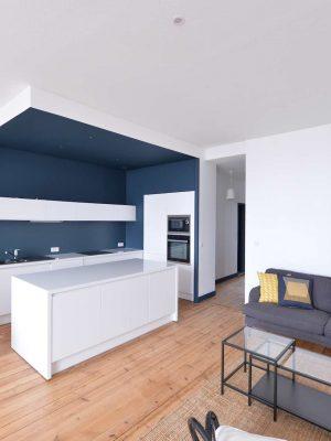réaménagement d'un appartement dans un immeuble pierre